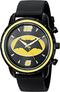 Men's Quartz Metal and Silicone Casual Watch, Color:Black (Model: BVS9035)