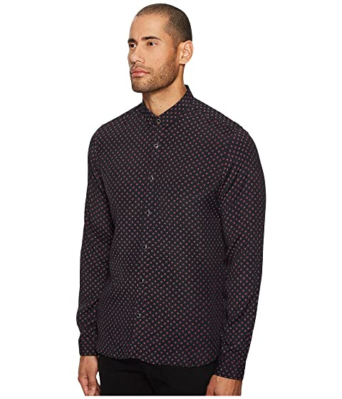 with The Shirt Collar Kooples Printed A Classic xqO6FWwSx4