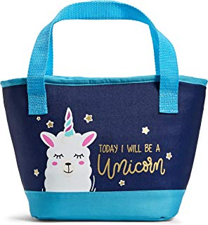 Fit & Fresh Peyton Insulated Lunch Bag Kit, Fun, Colorful, Today I Will Be A Unicorn