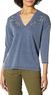 Lucky Brand womens PRINTED FLORAL TEE T-Shirt