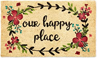 """DII Natural Coir Doormat, Home Sweet Home Mat, Our Happy Place, 18x30"""""""
