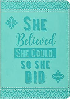 She Believed She Could, So She Did Journal (Diary, Vegan Leather Notebook)