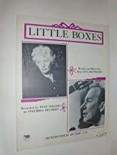 LITTLE BOXES - 1963 - Sheet Music - Schroder Music, Berkeley, CA - 4 pages - Pete Seeger / Malvina Reynolds on front cover