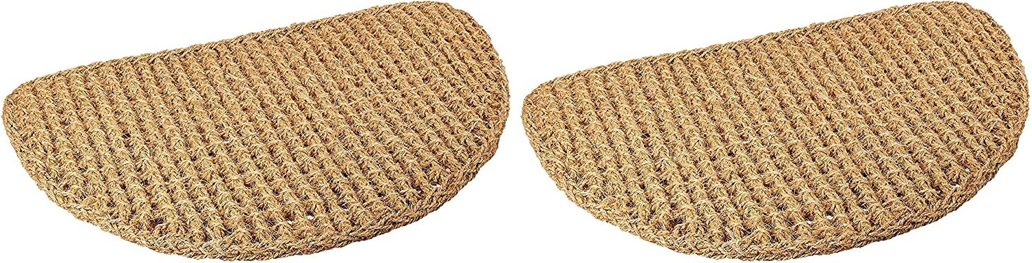 Kempf Dragon Coir Coco Mat, Half Round Braided Design, 18-Inch X 30-Inch, 1-Inch Thick (Pack of 2)