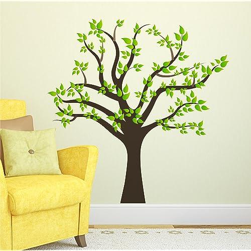 Wallstick 'Big Green Tree' Wall Sticker (Vinyl, 49 cm x 4 cm x 4 cm)