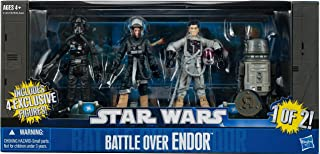Star Wars 2011 Exclusive Action Figure 4Pack Battle Over Endor #1 Lt. Oxixo, Sila Kott, Lt. Ekelarc Yong R5P9