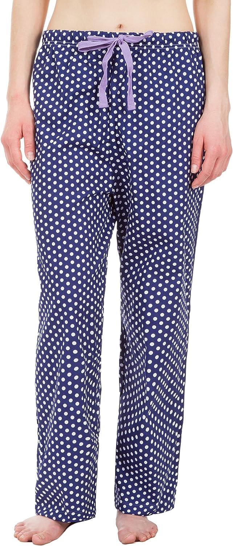 Leisureland Women's Cotton Poplin Pajama Lounge Boxer Shorts