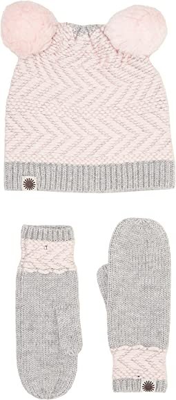 UGG Kids - Chevron Pom Hat/Mitten Set (Toddler/Little Kids)