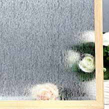 "VELIMAX Static Cling Rain Glass Window Film Removable Rain Decorative Window Film Privacy Anti-UV Heat Control (23.6""x 78.7"")"