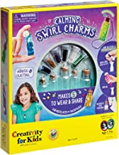 Creativity for Kids Calming Swirl Charms - Makes 5 Necklace and Backpack Accessories
