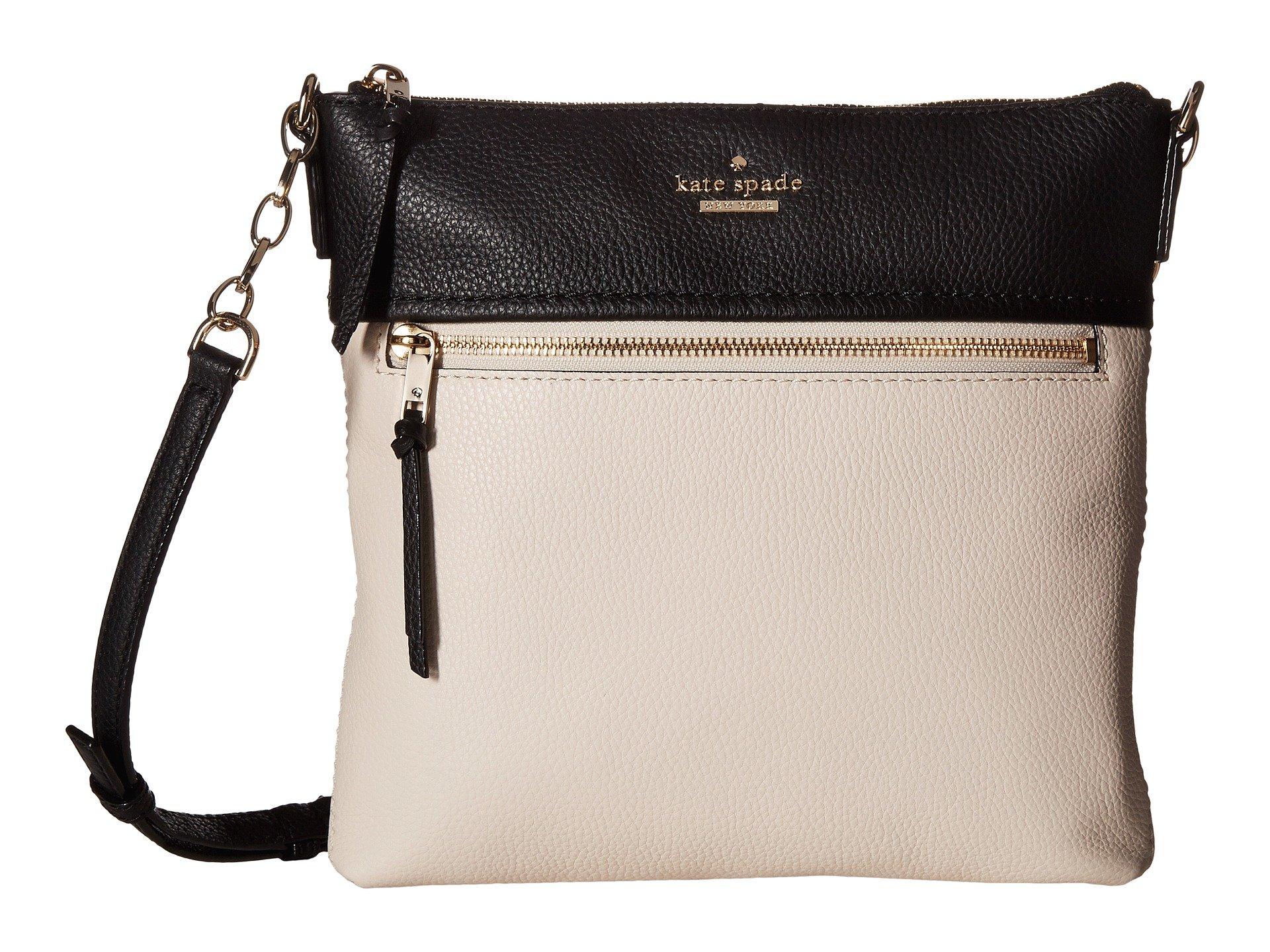 New Kate Spade New York Jackson Street Melisse Handbags, Black/Bone