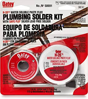 Oatay Plumbing Solder Kit, 1/4 lb solder and 1.7 oz flux
