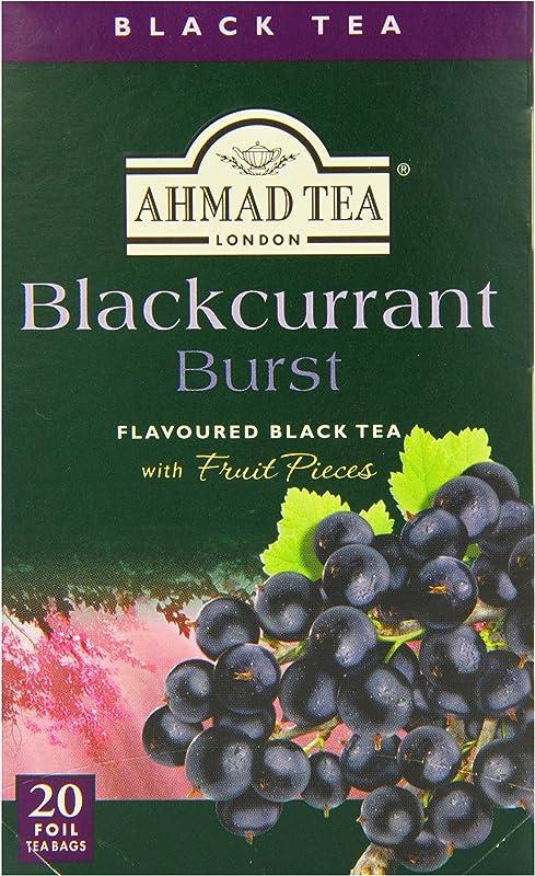 Ahmad Tea Black Tea Blackcurrant Burst 20 Ounce Pack Of 6
