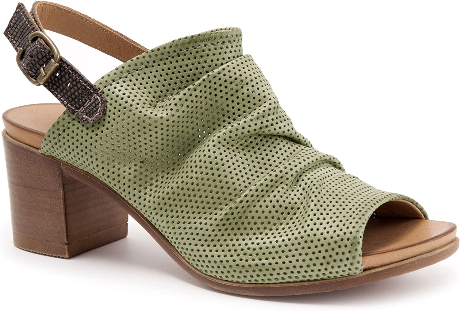 Bueno Women's Dolly Sandals in Moss Perf Taupe Lizard