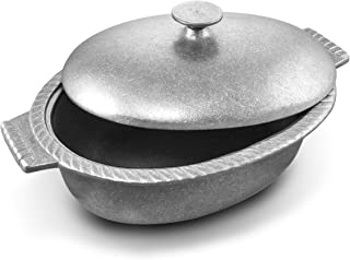 Wilton Armetale Gourmet Grillware Oval Chili Pot with Lid, 4-Quart