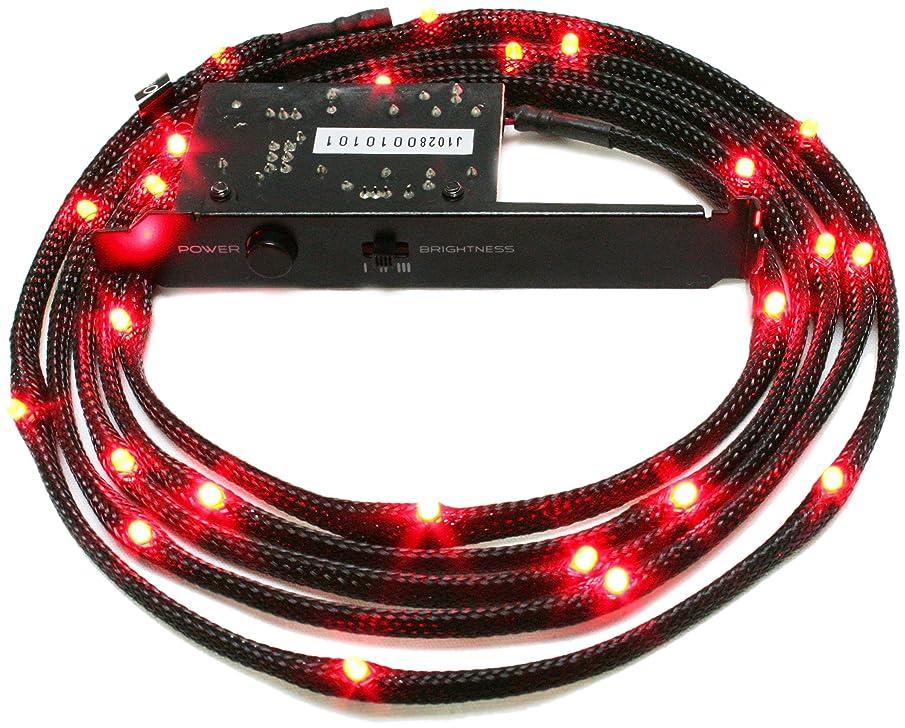 NZXT CB-LED20-RD 2-Metres Light Sensitivity Sleeved LED Kit (Red)