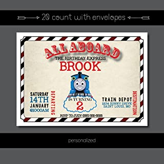 thomas friends personalized birthday invitations