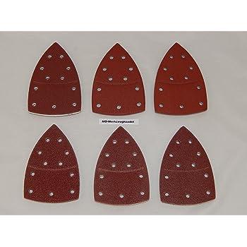 Ventaro 60 Pi/èces feuilles de pon/çage /& fermeture Velcro 105x152 mm Granulom/étrie par 10 x 40//60//80//120//180//240 pour Multi-ponceuses Bosch Prio