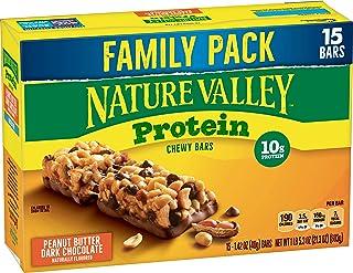 Nature Valley Protein Bar, Gluten Free, Granola Bar, Peanut Butter Dark Chocolate, 15 Count