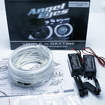 2004-06 with White Projector 7000K Angel Kit EYES Ring Kit CCFL Angel Eyes 4x 105 mm CANBUS Series 3 E46 ci FACELIFT