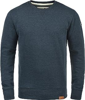 Solid Trip O-Neck Men's Sweatshirt Pullover with Crew Neck and Fleece Inner