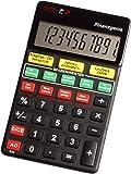 Genie Finanzgenie 10-stelliger Taschenrechner (Knopfdruck zu Zinsen, Laufzeiten, Raten, Ansparungen, Sparsummen) schwarz