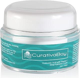 Curativa Bay Hyaluronic Acid Cream - Anti-Aging Moisturizing Face Serum - Natural Facial Moisturizer with Willowherb, Rose...
