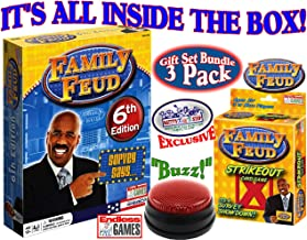 Best Endless Games Family Feud 6th Edition Set Bundle Includes Strikeout Card Game, Electronic Red 3-Mode Game Answer Buzzer and Count Down Timer Review