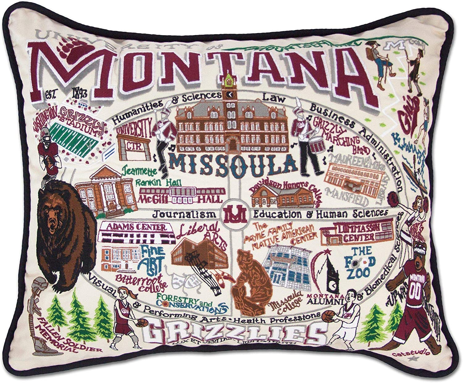 Gifts Catstudio University of Montana Embroidered specialty shop Decorativ Collegiate