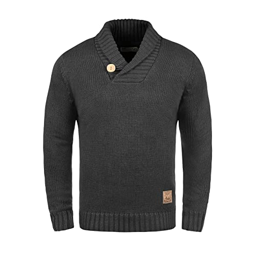 Solid Paddy Pull En Grosse Maille Pull-Over Tricot Pour Homme Avec Col Châle