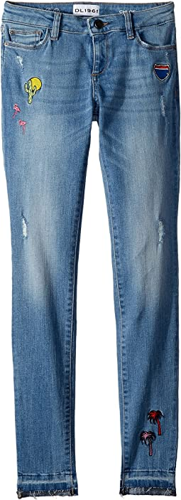 DL1961 Kids Chloe Embroidered Skinny in Palm Springs (Big Kids)
