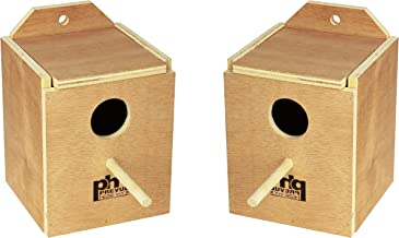 (2 Pack) Prevue Pet Products Wood Inside Mount Nest Box for Birds, Finch