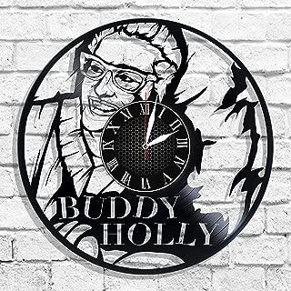 Buddy Holly singer design wall clock, Buddy Holly wall poster