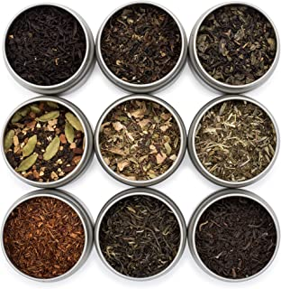 Sponsored Ad - Golden Moon Tea LOOSE LEAF TEA SAMPLER - 9 Variety Pack - Organic Tea Sampler Gift Set - Black Tea, Green T...