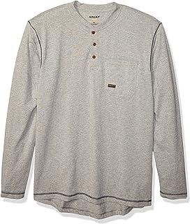 ARIAT Men's Rebar Pocket Long Sleeve Henley Shirt