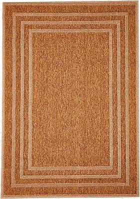 Homemania Tapis Fait à la Machine Plain rectangulaire, Impression Beige, Marron, en polypropylène, 133 x 190 cm