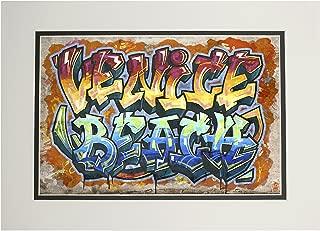 Venice Beach, California - Graffiti (11x14 Double-Matted Art Print, Wall Decor Ready to Frame)