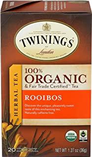 Twinings Organic and Fair Trade Certified Rooibos Tea Bags, 40 Count