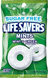 Life Savers Wint O Green Sugarfree Mints Candy Bag, 2.75 Ounce (Pack of 12)
