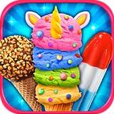 Rainbow Unicorn Ice Cream & Ice Popsicles - Kids Frozen Dessert Food Maker Games FREE