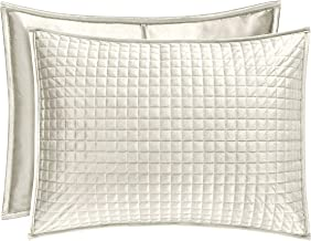 Five Queens Court Gordon - Coverlet Quilted Pillow Sham, Ivory