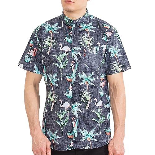 f881f34b6962 Visive Original Printed Short Sleeve Button Down Shirt Size Small - 4XL Big  Mens