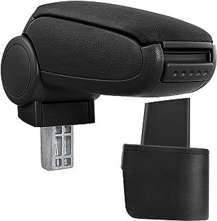 [pro.tec] Reposabrazos central – Apoyabrazos con compartimento – acolchado – tela – negro