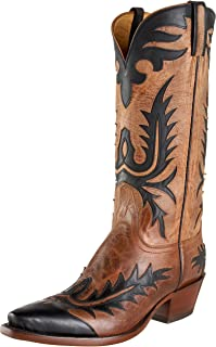 US M Old West Boys Copper Corona Calf Cowboy Boot Square Toe Copper 13.5 D