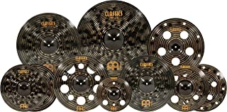 """Meinl Cymbals Cymbal Set Hihats, 22 Ride, 20 China, 16 Stack, Plus a Free 18 Crash and 12"""" Trash Splash – Classics Custom Dark – Made in Germany, Two-Year Warranty, Ultimate (CCD-ES2)"""