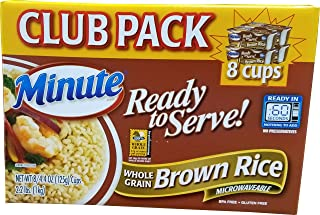 Minute Brown Rice Cup (8 x 4.4 OZ Cups), 35.2 Ounce