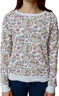 Pusheen The Cat Rainbows Unicorns and Mermaids Juniors Sweatshirt