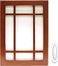 Heath Zenith SL-7611-03 Wireless Doorbell Kit with 150ft. range and Wood covering for Chime, Brown