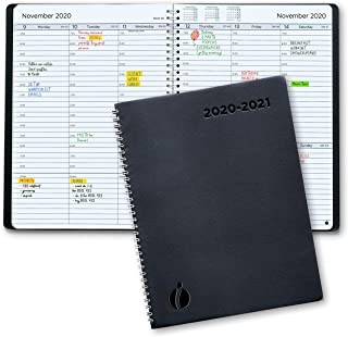 Academic Planner 2020-2021 - Hourly 2020-2021 Planner Weekly and Monthly. Flexible Cover, Twin-Wire Binding. Simple Design Inspires Productivity. July 2020 - August 2021. 8.5 x 11