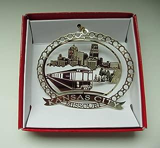 Kansas City Missouri Brass Christmas ORNAMENT Souvenir Gift
